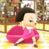 チコちゃんの顔のCGの製作法、収録時の頭部は着ぐるみで後日CGに置き換える。